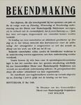 IA-1940-0025 Bekendmaking van de Burgemeester in zake de betaling van voorschotten aan puinruimers. 27 Mei.