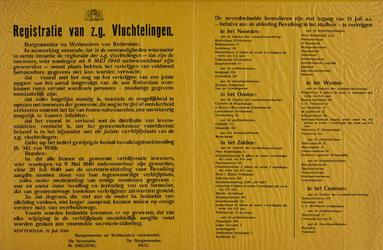 IA-1940-0031 Registratie van z.g. vluchtelingen. 10 Juli.