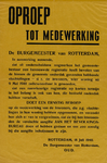 IA-1940-0032 Oproep tot medewerking van de Burgemeester 18 Juli.