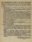 IA-1940-0036 De Burgemeester van Rotterdam vestigt de aandacht op de bekendmaking van de Wehrmachtsbevelhebber d.d. 6 ...