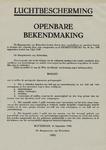 IA-1940-0039 Luchtbescherming. Openbare bekendmaking. 16 September.
