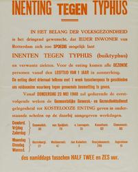 IA-1940-0044 Inenting tegen typhus. Mei 1940.