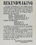 IA-1940-0046 Bekendmaking van de directeur van de Gemeentelijke Dienst voor Maatschappelijk Hulpbetoon, Van Walsem, ter ...