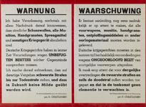 IA-1940-0047 Waarschuwing van de Wehrmachtbefehlshaber in zake de inleveringsplicht van wapenen. Getekend door ...