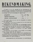 IA-1940-0049 Bekendmaking van B. en W. inzake lonen in werkverschaffing.Vanaf 27 mei 1940
