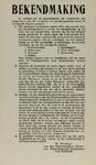 IA-1940-0050 Bekendmaking van de directeur van de Gemeentelijke Dienst voor Maatschappelijk Hulpbetoon, de heer Van ...