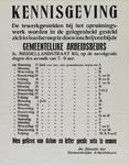 IA-1940-0053 Kennisgeving van de directie der Gemeentelijke Arbeidsbeurs inzake inschrijving van tewerkgestelden bij ...