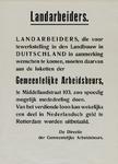 IA-1940-0054C Landarbeiders. Tewerkstelling in Duitsland. De directie der Gemeentelijke Arbeidsbeurs.