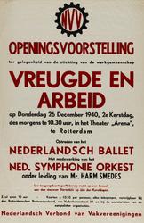 IA-1940-0062 Openingsvoorstelling ter gelegenheid van de stichting van de werkgemeenschap Vreugde en Arbeid. 28 ...