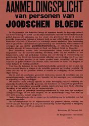 IA-1941-0013 Aanmeldingsplicht van personen van Joodschen bloede. 10 Februari.