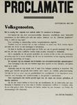 IA-1941-0030 Proclamatie van den districtleider tegen daden van terreur, gericht tegen N.S.B. ers of W.A. ers, enz. Mei.
