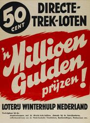 IA-1941-0031A Een millioen gulden prijzen! Loterij Winterhulp Nederland.