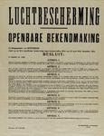 IA-1941-0036A Luchtbescherming. Openbare bekendmaking (van de Burgemeester). 14 Juli.