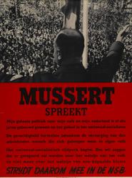 IA-1941-0076A Mussert spreekt. Strijdt daarom mee in de NSB.