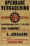 IA-1941-0087 Openbare Vergadering van het Nederlands Verbond van Vakverenigingen. Woensdag 1 october in zaal Harmonie. ...