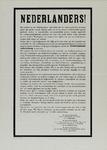IA-1941-0096 Nederlanders! Het welzijn van het Nederlandsche volk eischt... Oproep sabotage- en verzetsdaden te staken, ...