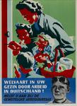 IA-1942-0023 Welvaart in uw gezin door arbeid in Duitschland! Meldt U aan bij de gewestelijke arbeidsbureaux.