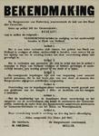 IA-1942-0044 Bekendmaking van de burgemeester inzake vestiging en nachtverblijf te Hoek van Holland. 24 Juli 1942.