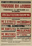 IA-1942-0069 Het Nederlandsche Arbeidsfront. Vreugde en Arbeid. Woensdag 23 September in Odeon Specialiteitenschouw ...