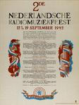 IA-1942-0070 2de Nederlandsche radiomuziekfeest 12 t/m 19 September. Nederlandsche Omroep.