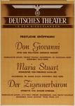 IA-1942-0081 Deutsches Theater in den Niederlanden. Festliche Eröffnung Don Giovanni. Maria Stuart Der Zigeunerbaron.