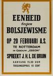 IA-1943-0021 Eenheid tegen Bolsjewisme. Op 20 Februari a.s. te Rotterdam in gebouw Odeon spreekt J.H.L. de Bruin.