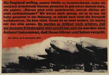 IA-1943-0028 Als England anfing, unsere Städte zu bombardieren, habe ich zunächst dreieinhalb Monate gewartet .....