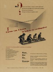 IA-1943-0035 Commissie Huishoudelijke Voorlichting en Gezinsleiding. Cursus van 4 lessen in koken en voedingsleer in de ...