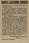IA-1943-0039 Aangifte leegstaande woningen. 1 April.
