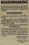 IA-1943-0042 Bekendmaking (v.d. burgemeester) houdende aanzegging van den Algemeen Gemachtigde voor den Wederopbouw ...
