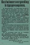 IA-1943-0056 De burgemeester van Rotterdam brengt ter kennis van verwanten van leden van het voormalige Nederlandsche ...