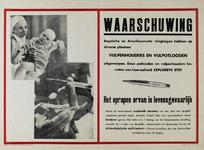IA-1943-0058 Waarschuwing. Engelsche en Amerikaansche vliegtuigen hebben op diverse plaatsen vulpenhouders en ...