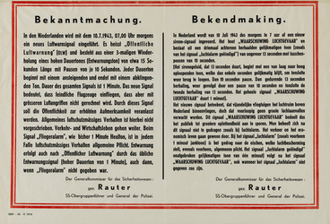IA-1943-0073 Bekanntmachung - Bekendmaking (van den Generalkommissar für das Sichertheitswesen Rauter, betr. het nieuwe ...