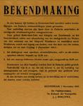 IA-1943-0106 Bekendmaking. 5 November [strafmatregelen tegen sabotage]
