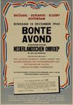 IA-1943-0114 Rivièrahal Diergaarde Blijdorp Rotterdam. Dinsdag 14 December 1943 Bonte Avond georganiseerd door den ...