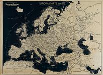 IA-1943-0118 Europa-Karte der D.Z. Herausgegeven durch die Deutsche Zeitung in den Niederlanden.