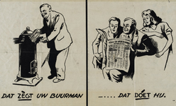IA-1943-0121 Dat zègt uw buurman - Dat doét hij. Volk en Vaderland.
