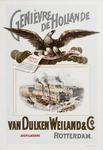 II-0000-0123 Van Dulken Weiland & Co. De Arend. Distillateurs Rotterdam. Genièvre de Hollande.