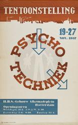 II-0000-0141 H.B.S.-Gebouw Alkemadeplein. Psycho-Techniek. 19-27 November 1937. affiche toegeschreven aan Beatrijs ...