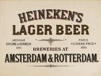 II-0000-0144 Heineken's Lager Beer Breweries at Amsterdam & Rotterdam.