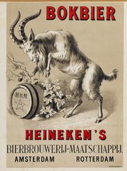 II-0000-0145 Heineken's Bierbrouwerij Maatschappij Amsterdam en Rotterdam. Bokbier.