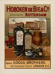 II-0000-0159 Hoboken de Bie & Co. Rotterdam Holland Distillers. Agents: Goggs Brothers, London.