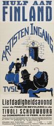 II-0000-0163 Artisten-Ingang. Hulp aan Finland. Liefdadigheidsavond voor de Finse bevolking in de Tivoli Schouwburg op ...
