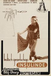 II-0000-0175A Zang. Indisch Gezelschap Insulinde. Zang en dans, krontjong, gamelan. Diergaarde Blij-Dorp, Rotterdam. ...