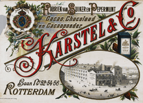 II-0000-0185 Karstel & Co., Rotterdam. Fabriek van Suiker en Pepermunt. Cacao, Chocolaad en Cacaopoeder.