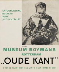 II-0000-0219 Museum Boymans. Oude Kant, ingericht door Het Kantsalet . 5 tot 28 Maart 1938.