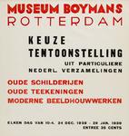 II-0000-0220 Museum Boymans. Keuze uit particuliere Nederl. verzamelingen. Oude schilderijen, oude tekeningen, moderne ...