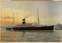 II-0000-0233 Schip 'Rotterdam' van Holland Amerika Line. Ocean Publishing Co New York
