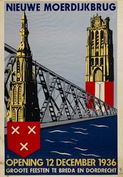 II-0000-0266 Nieuwe Moerdijkbrug. Opening 12 December 1936. Grote feesten te Breda en Dordrecht.