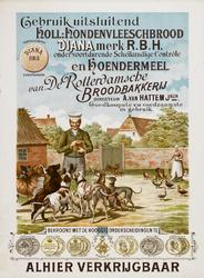 II-0000-0297 De Rotterdamsche Broodbakkerij. Gebruik uitsluitend holl. hondenvleeschbrood Controle en hoendermeel van ...
